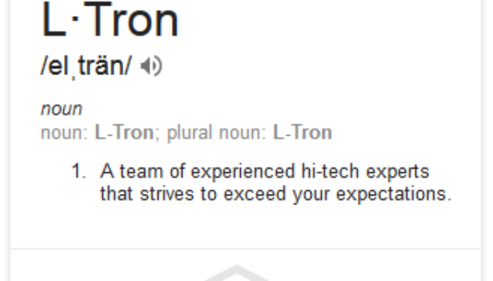 L-Tron's Glossary