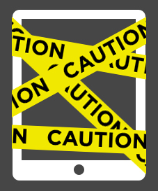 Caution iPad