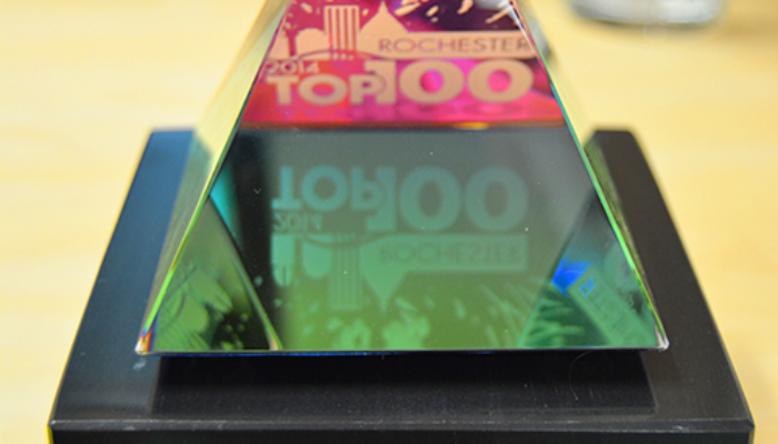 Our Rochester Top 100 Award Arrived