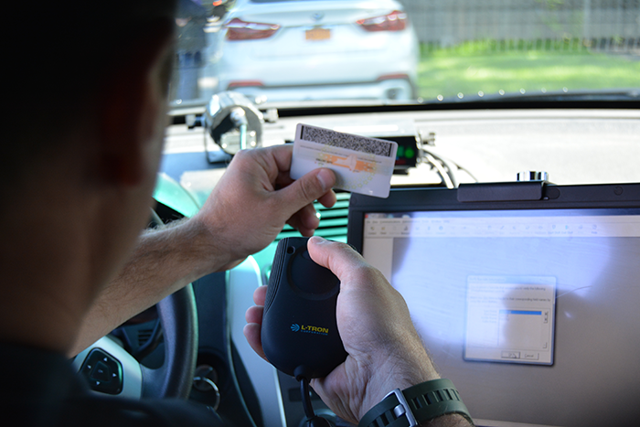Scan a Driver's License above the steering wheel to increase awareness of your surroundings