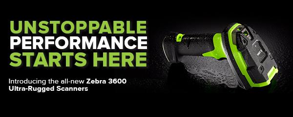 Zebra 3600 ultra rugged barcode scanner