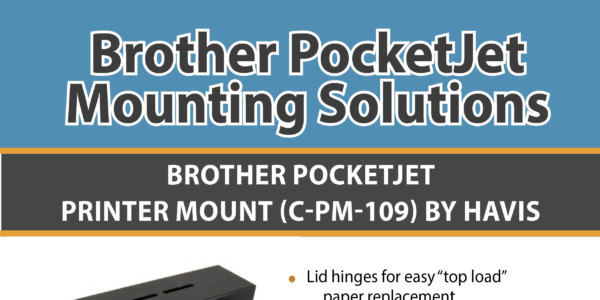 Brother PocketJet Printer Mounting Solutions Infographic