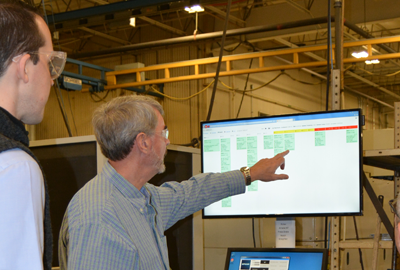 digital visual scheduling on the manufacturing floor