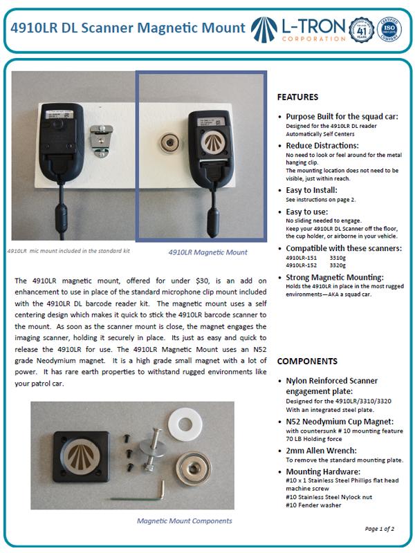 4910LR magnetic mount datasheet p1