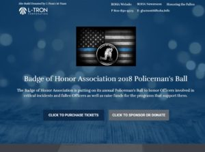 BOHA Police Officers Ball Website