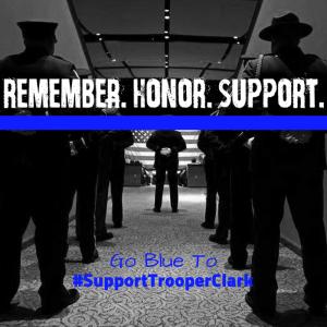 Blue Light for Trooper Clark