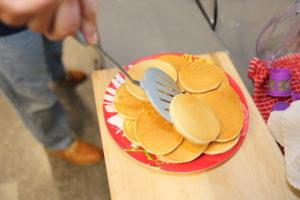 Andy making Pancakes