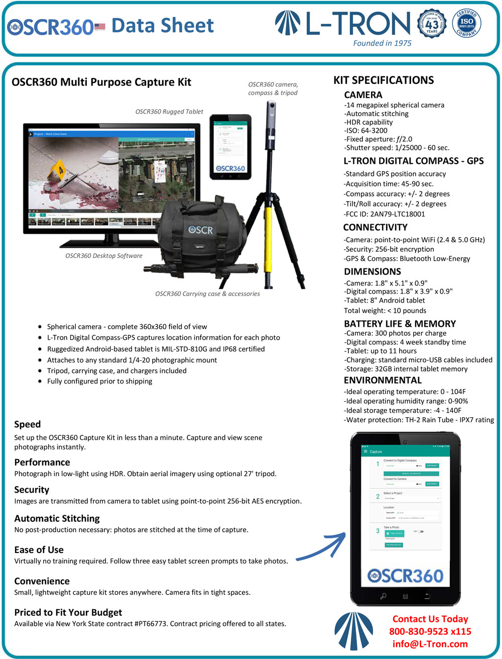 OSCR360 Datasheet Capture Kit