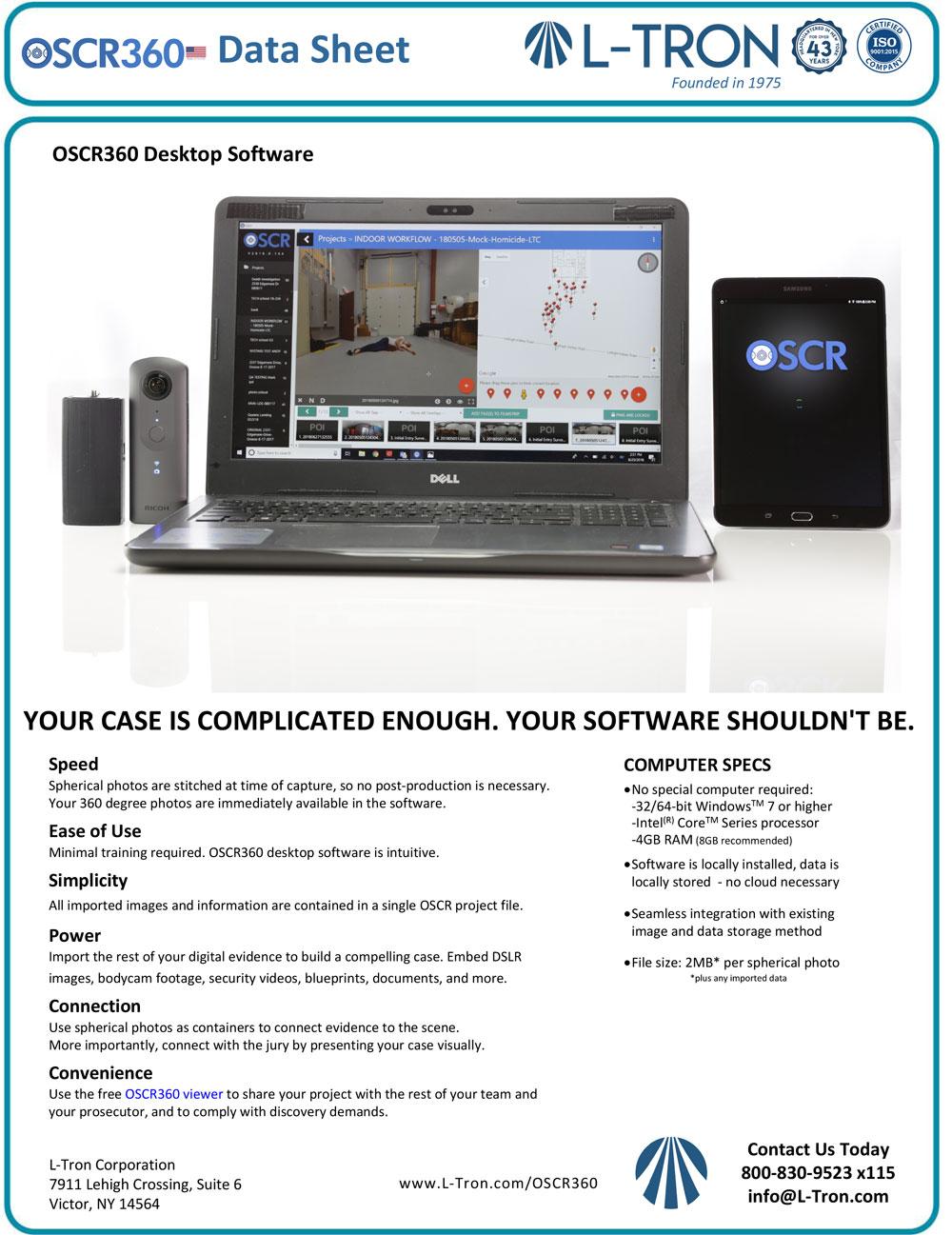 OSCR360 Datasheet -  Desktop Software
