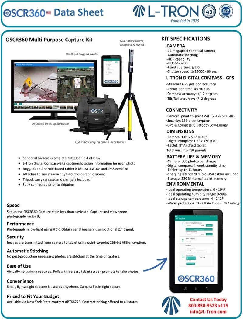 OSCR360 Capture Kit Datasheet