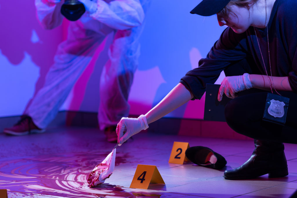 Crime Scene Photography Color and white balance