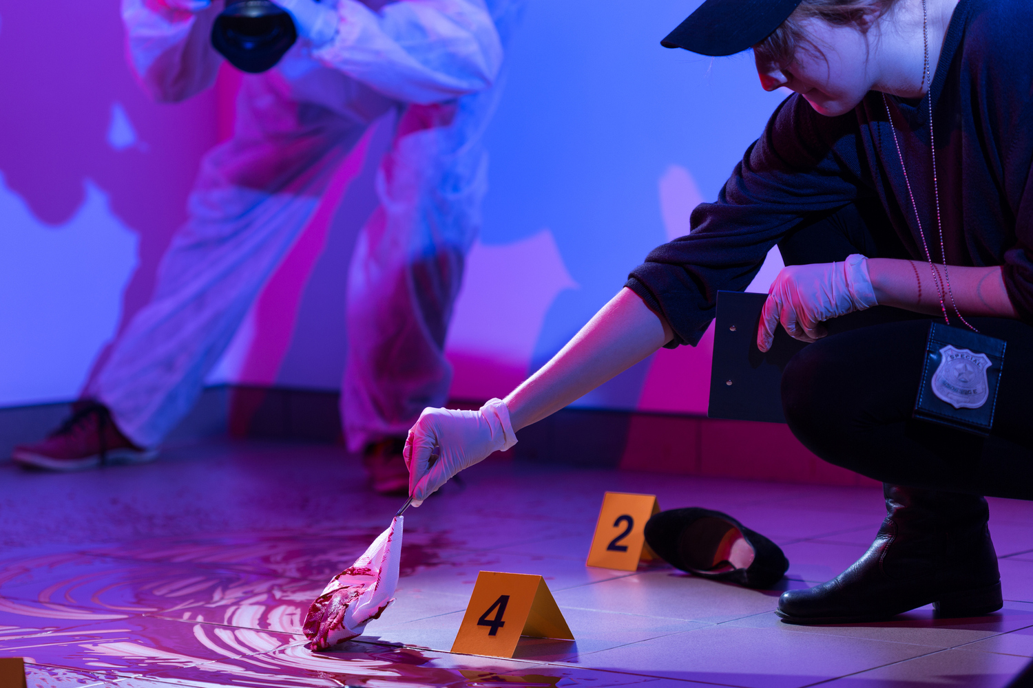 Crime Scene Photography Color & white balance