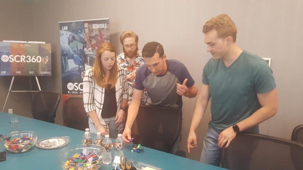 L-Tron Team Building - what are the legos for?