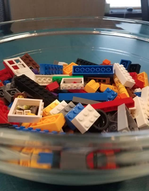 LEGOs in the conference room