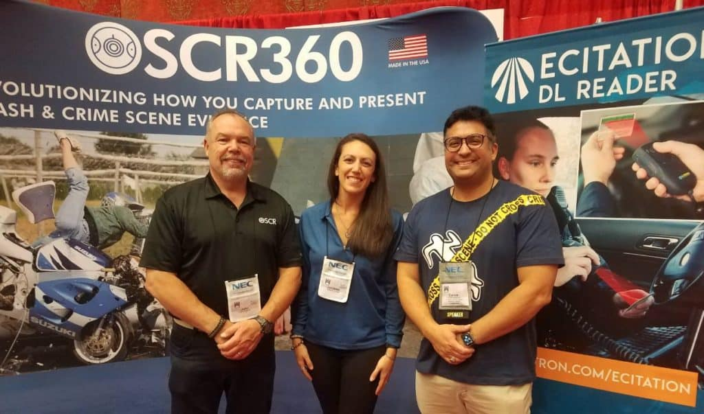 The L-Tron team & Carlos at the booth - IAI Conference Reno, Nevada