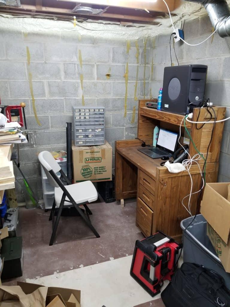 Trevors basement office