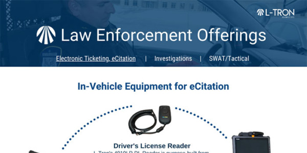 Law Offerings: In-vehicle equipment for eCitation