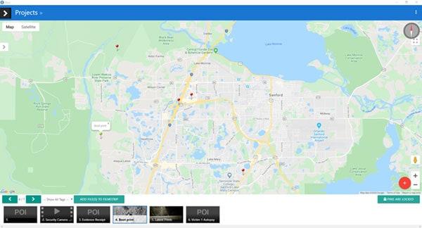 OSCR map - homicide investigatino case