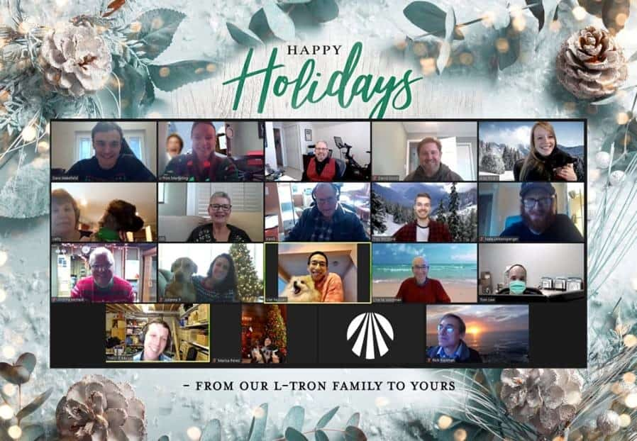 tips for a virtual holiday party - our team's elfie