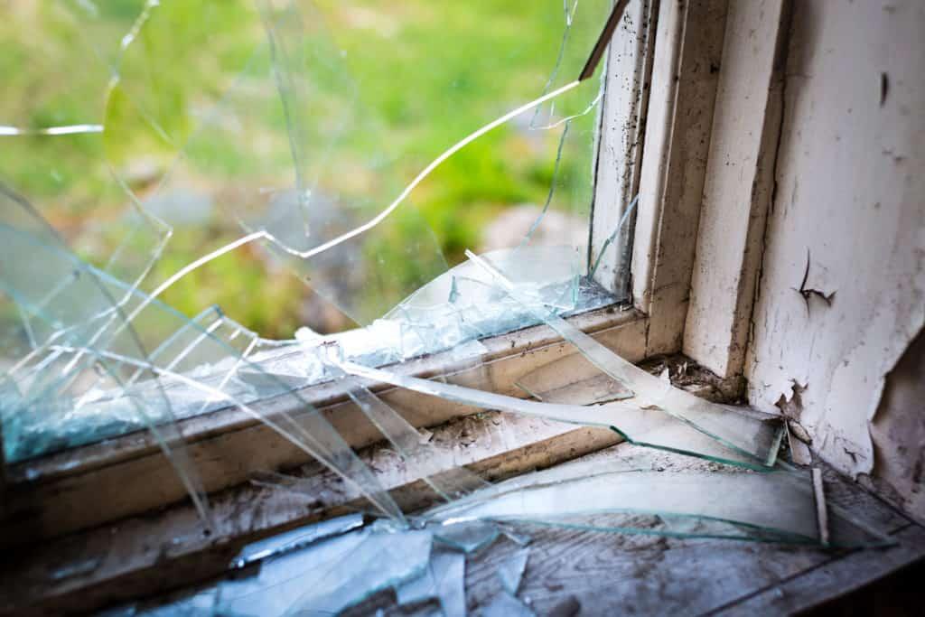 Home burglary scene