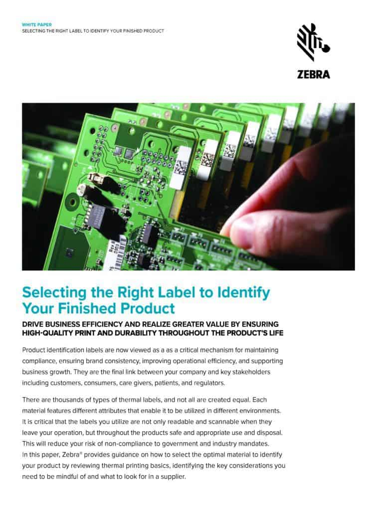 Selecting the right barcode labels for your finished product